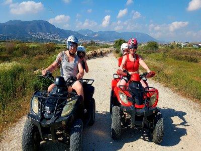 Ruta en quad adulto y niño en la Costa del Sol 2 h