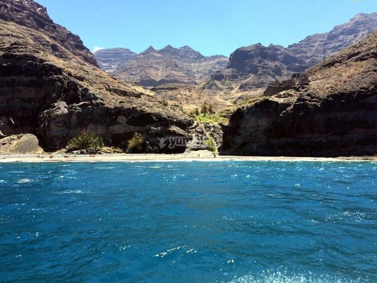 乘船游览大加那利岛海岸