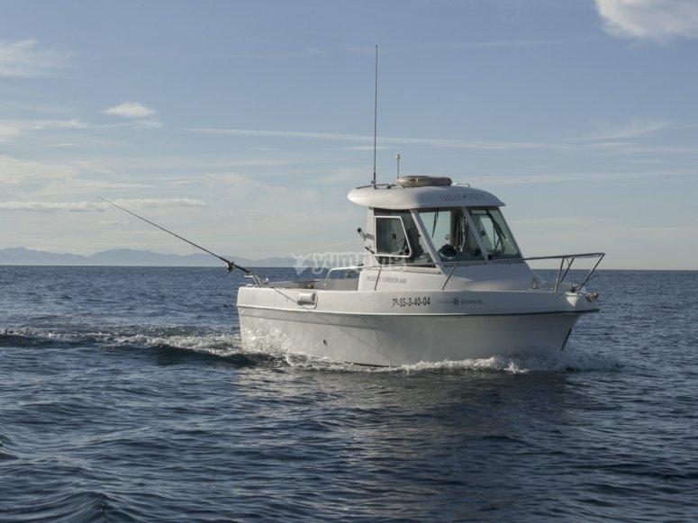 Barco para pescar