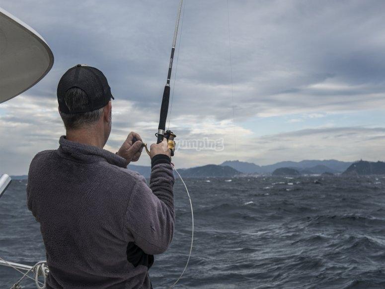 Pescando desde la embarcacion