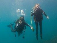 pareja de submarinistas