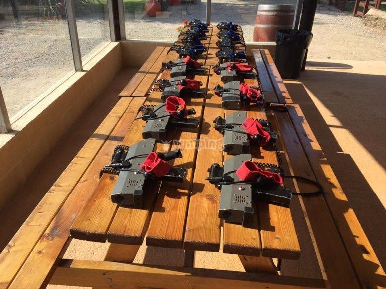 Material para laser tag en Sant Pere Pescador