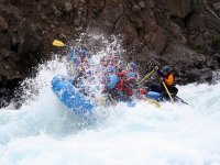 Incredible rapids doing rafting