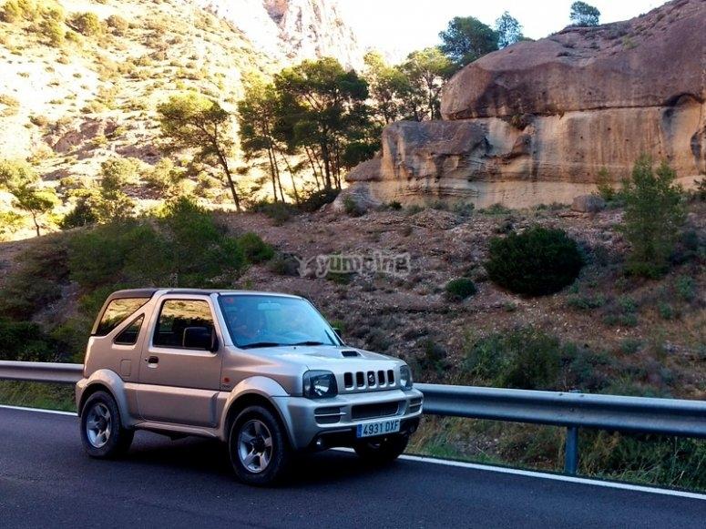 Visita el valle del Guadalhorce en coche todoterreno