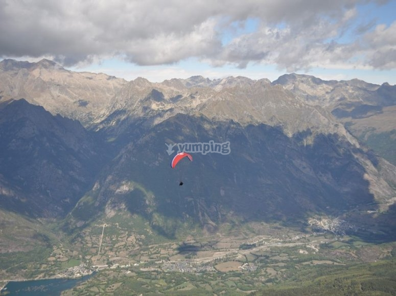 Flying next to the Pyrenees