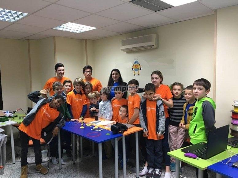 Participantes del campus tecnologico en Madrid