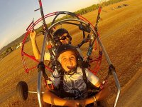 Enjoying the most of the paratrike flight in Caceres