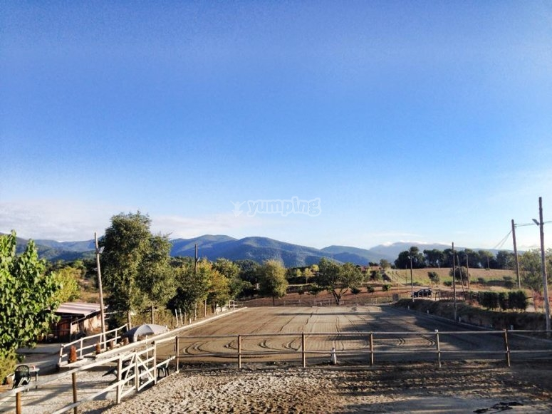 Riding track in Montseny