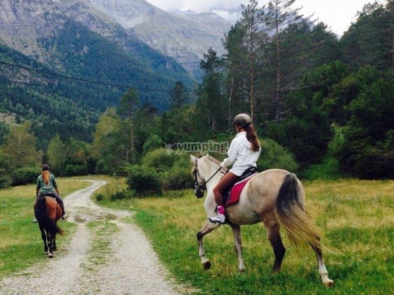 Cabalgando en Montseny