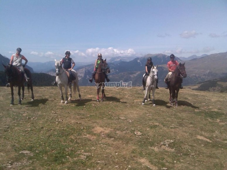 Paseo a caballo en Montseny