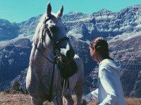 Cogiendo al caballo de las riendas en Montseny