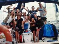Saludando desde el barco