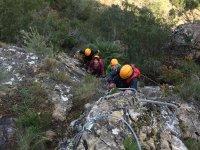 首页费拉塔领导组中的铁索攀岩吊桥