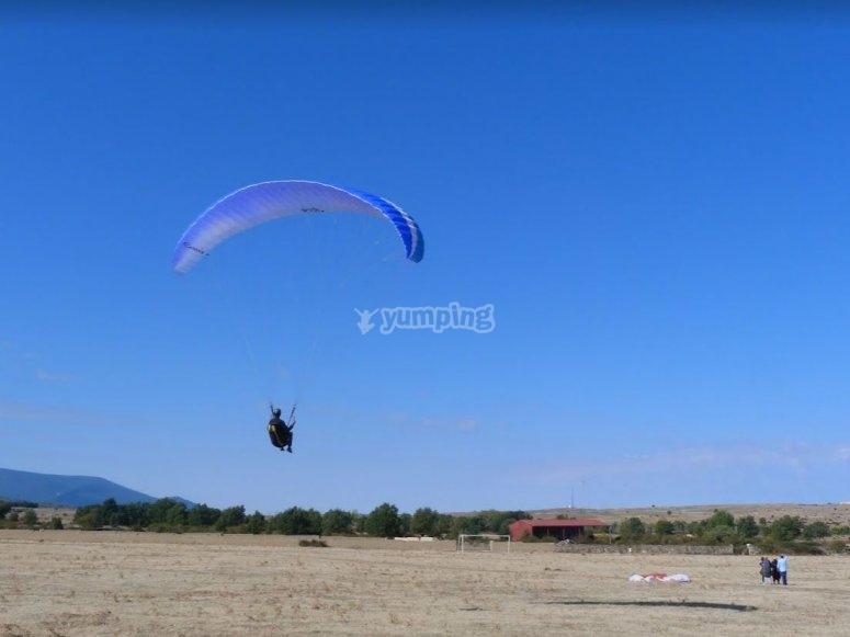 Punto de aterrizaje parapente Avila