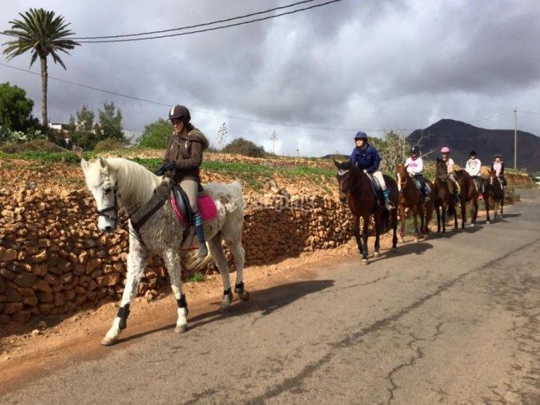 Salida a caballo en Tetir