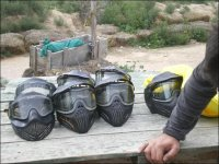 合影防护面具备战