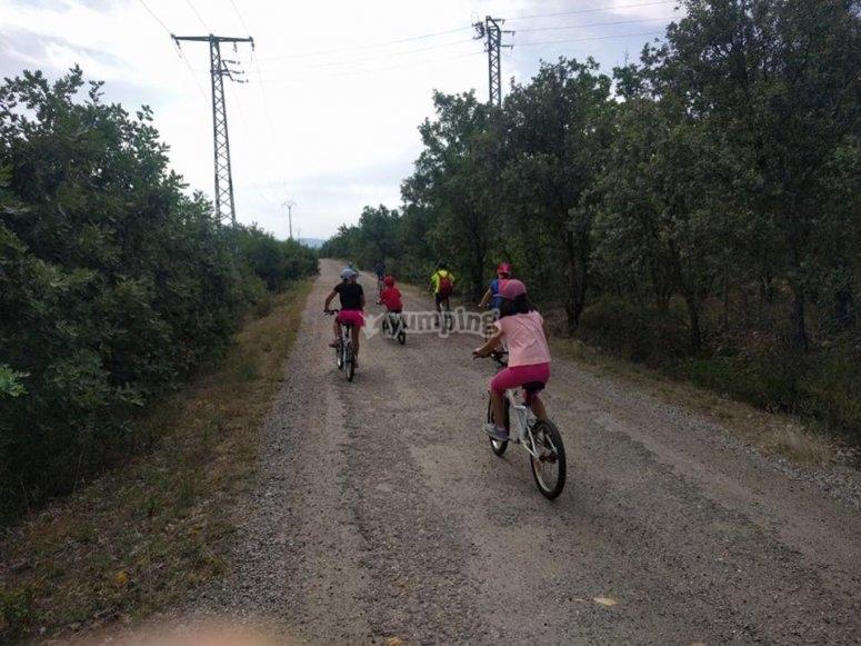 Ruta en btt cerca del Jucar