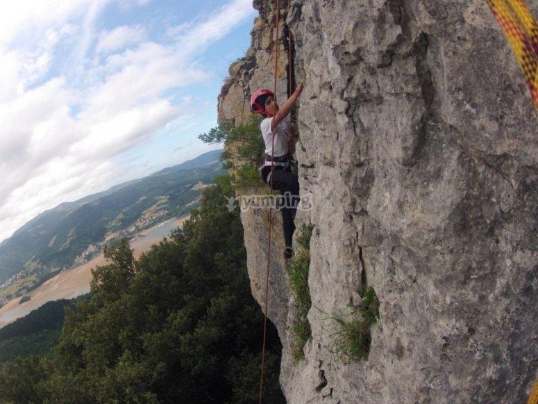 Climbing course in Urdaibai