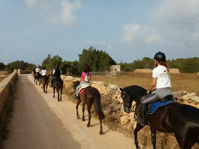 Excursion ecuestre en Formentera