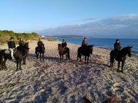 A caballo al atardecer en Formentera