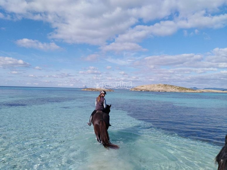 A caballo en el Mediterraneo
