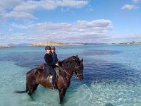 Con los caballos en el Mar en Formentera