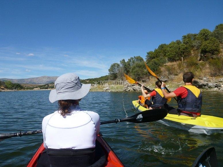 Actividades con Kayaks