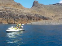 Ruta en moto de agua por la costa de Corralejo