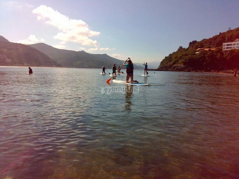 Descenso de la ria de Urdaibai en paddle surf