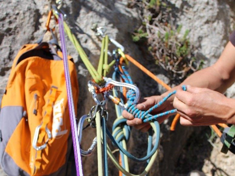 Climbing equipment in Tivissa