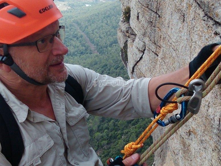 在Tivissa使用登山扣