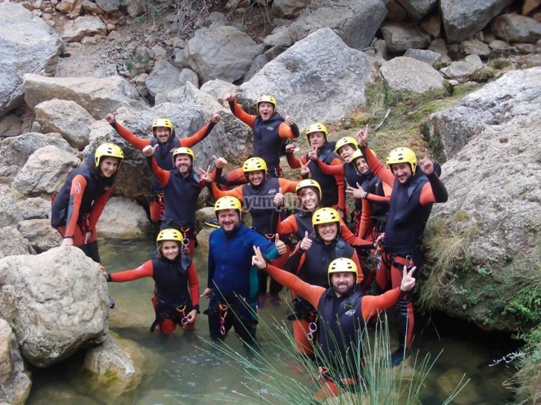 Group of canyoners in Jaen