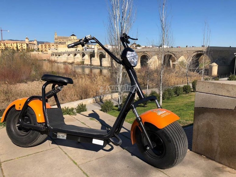Conduce una scooter