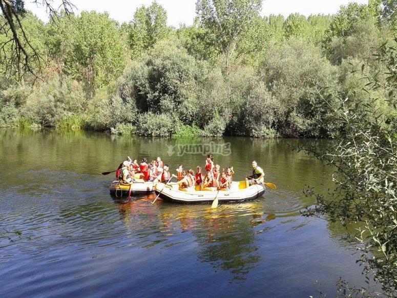 Rafting raft in the Tormes