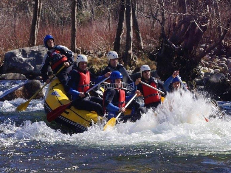 Rafting descend in Tormes