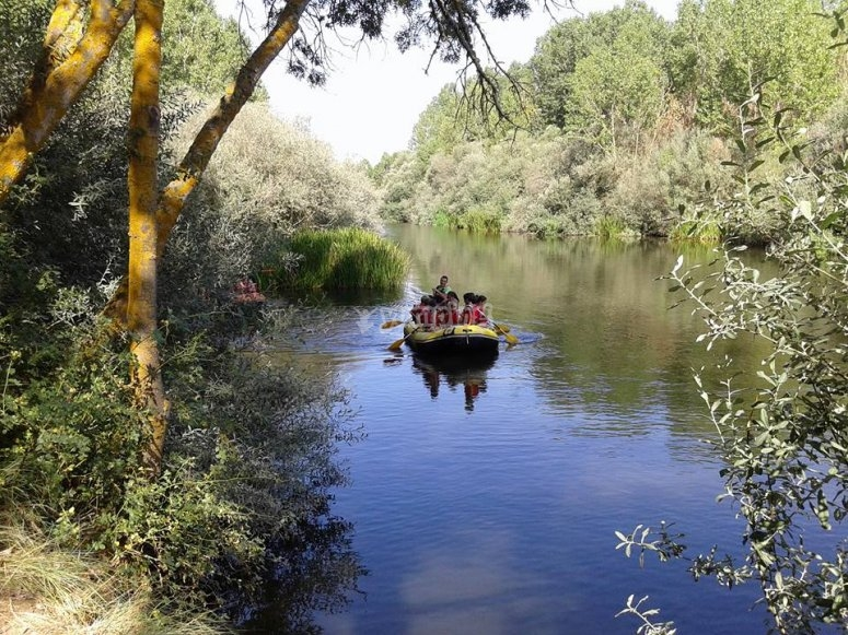 Rafting navigation in the Tormes