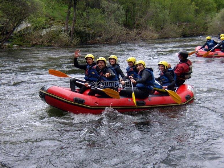 Descending in a raft in Gredos