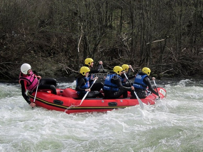 Rafting descend in Gredos