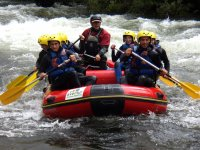Rowing with the raft in Gredos
