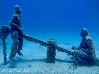 潜水大西洋兰萨罗特博物馆2次潜水