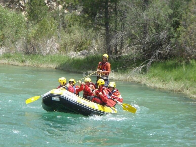 Rafting raft in el Guadiela