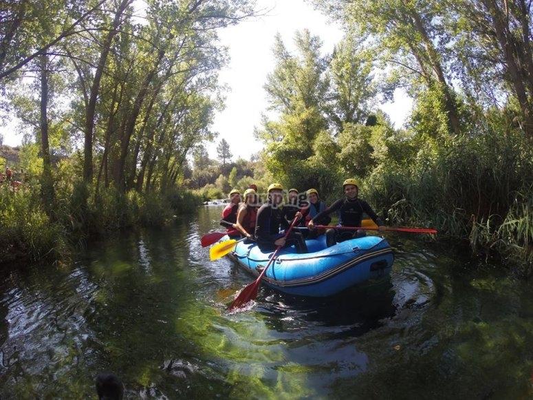 Go rafting near Madrid