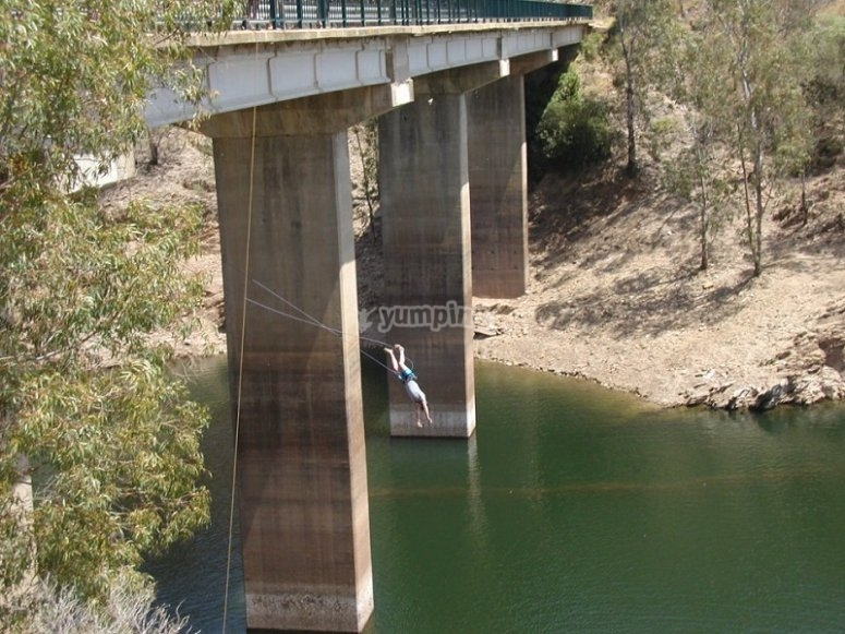 Bungee jumping in Aznalcollar