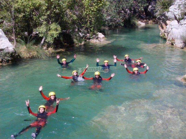 Todos en el rio en Jaen