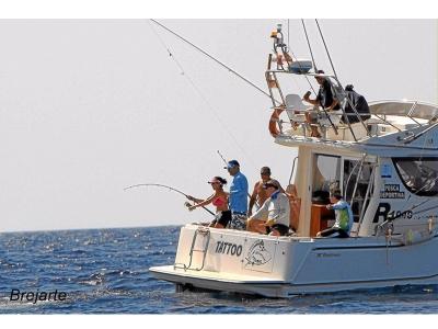 钓鱼在韦尔瓦钓鱼整天