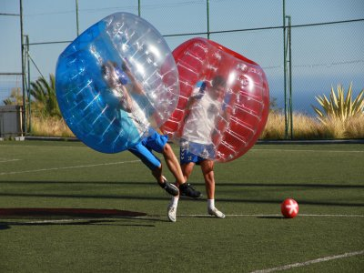 1-Hour Bubble Soccer in the South of Tenerife