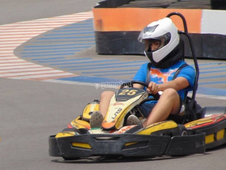 Tanda de karting infantil en Benidorm