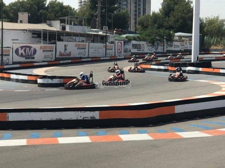 Circuito de karting en Benidorm