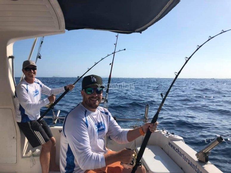 Pescar en grupo en Murcia