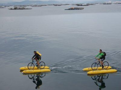 在Arousa租用海上自行车8小时